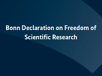 Bonn Declaration: Research Ministers of the EU affirm the central role of freedom of scientific research