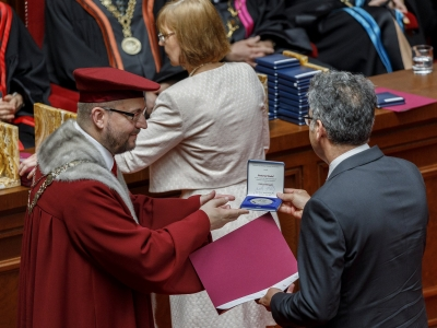 UNICA was awarded a medal by the Comenius University in Bratislava