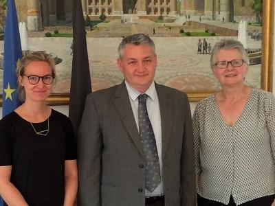 Meeting with Dilyor Khakimov, Ambassador of Uzbekistan to Brussels