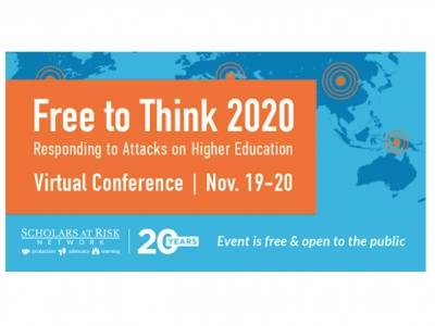 Free to Think 2020: Responding to Attacks on Higher Education, 19-20 November 2020