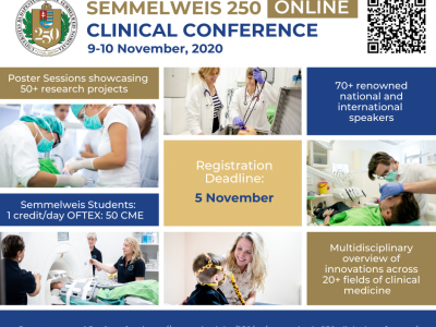 Semmelweis 250 Clinical Conference, 9-10 November 2020