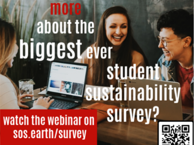 SOS international launched the biggest ever survey on students' opinions on sustainability (open 1 April – 31 May)