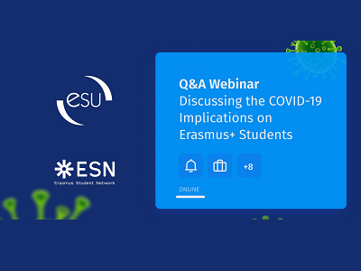 COVID-19 implications on Erasmus+ students: Q&A webinar
