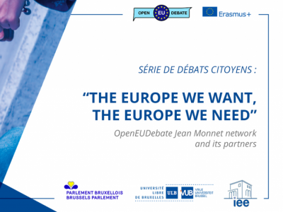 "Citizen debate ""The Europe we want, the Europe we need!"", ULB, Brussels, 20 March 2019"