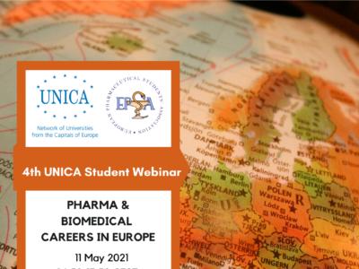 UNICA Student Webinars: Pharma and Biomedical Careers in Europe