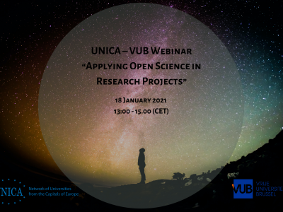 "UNICA – VUB Webinar ""Applying Open Science in Research Projects"""
