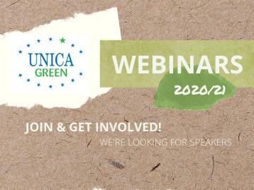 UNICA Green webinars 2020-2021