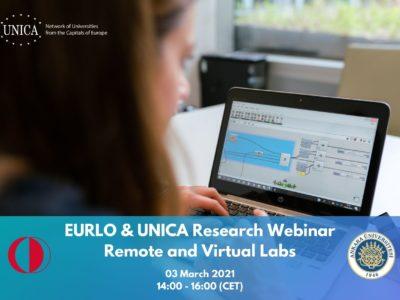 EURLO & UNICA Research webinar: Remote and Virtual Labs