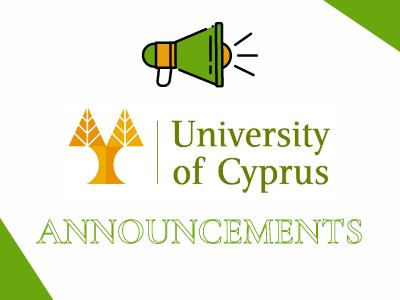 University of Cyprus   Announcements