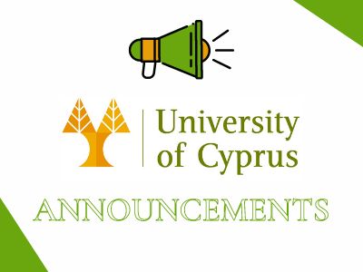 University of Cyprus | Announcements