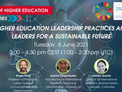 Joint UNICA-IAU webinar: Higher Education Leadership Practices and Leaders for a Sustainable Future | 8 June 2021