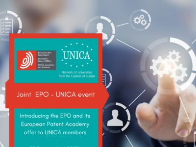 EPO – UNICA event: Introducing the EPO and its European Patent Academy offer to UNICA, 21 September 2021