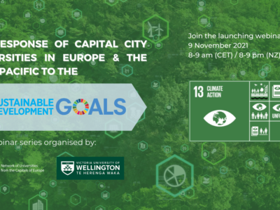 Webinar series: The response of capital city universities in Europe and Asia-Pacific to the UN SDGs