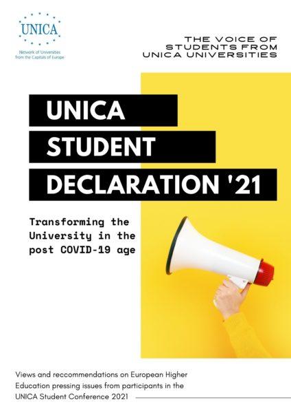 UNICA Student Declaration 2021