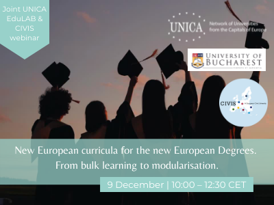 Joint UNICA EduLAB & CIVIS webinar: New European curricula for the new European Degrees. From bulk learning to modularisation